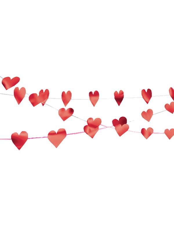 ... fr - Decoration / Animation - Guirlande ficelle coeurs Saint Valentin