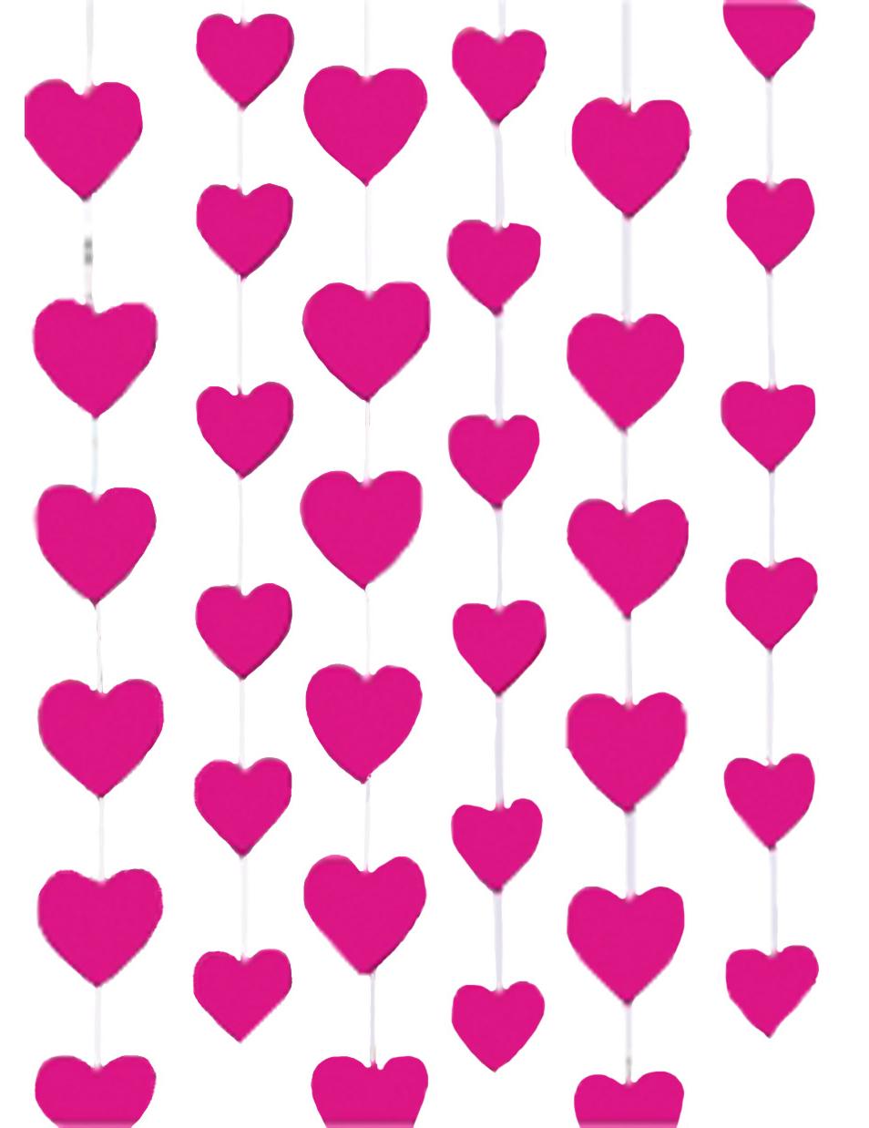 Висячие сердечки из бумаги