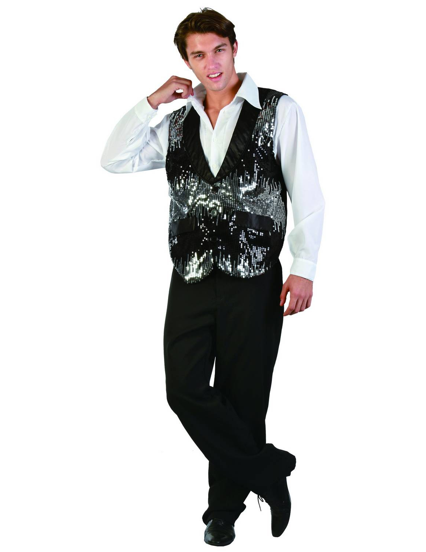 gilet ann es 20 homme sequins achat de d guisements adultes sur vegaoopro grossiste en. Black Bedroom Furniture Sets. Home Design Ideas