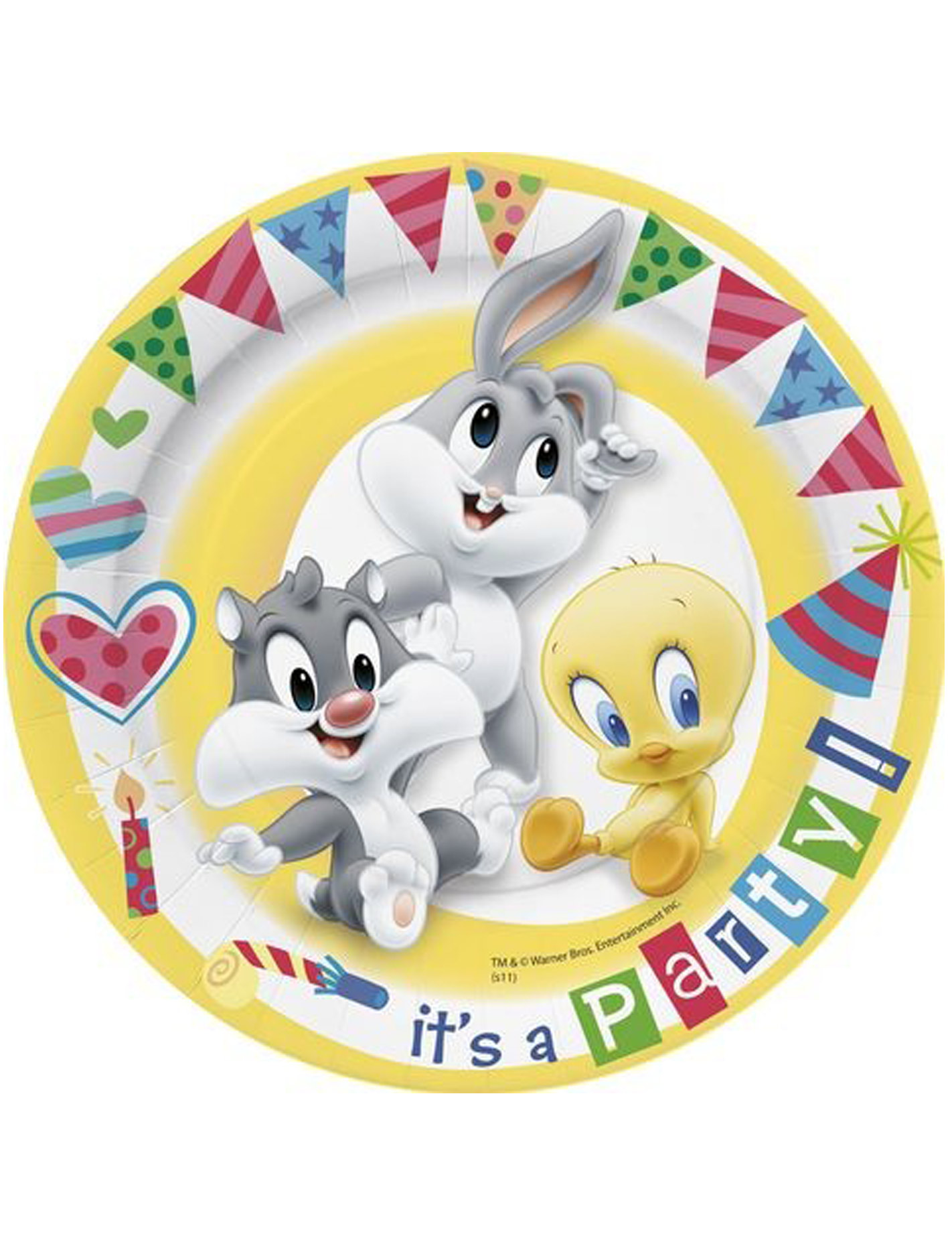 10 assiettes carton baby looney tunes achat de for Baby looney tune decoration