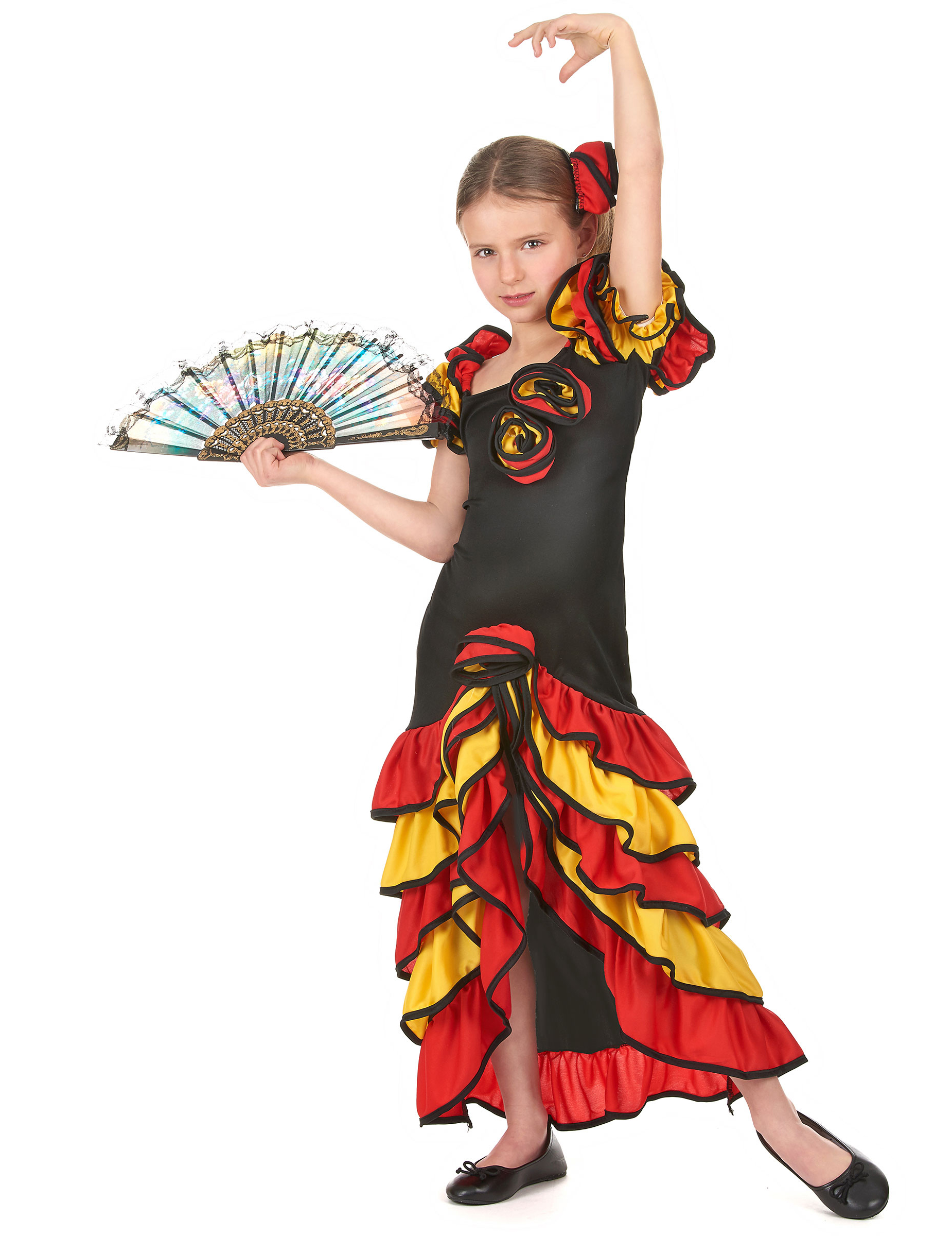 D guisement couple danseuse flamenco m re et fille for Colore con la d