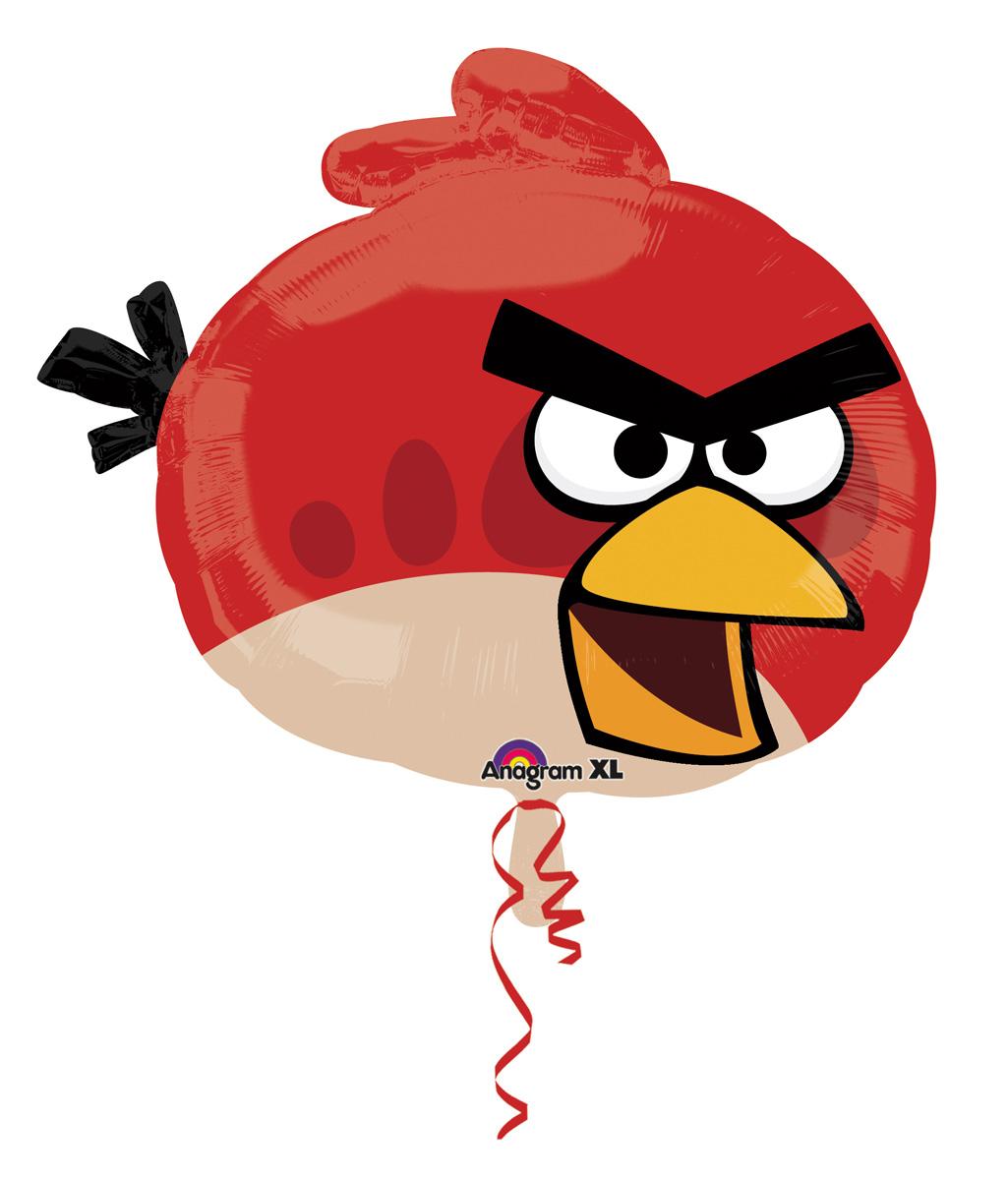 Ballon aluminium rouge angry birds achat de decoration animation sur vegaoopro grossiste en - Angry birds rouge ...