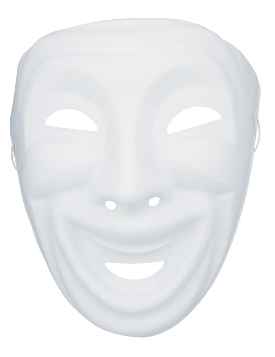 Masque comedia dell 39 arte blanc d corer for Decorer un masque blanc