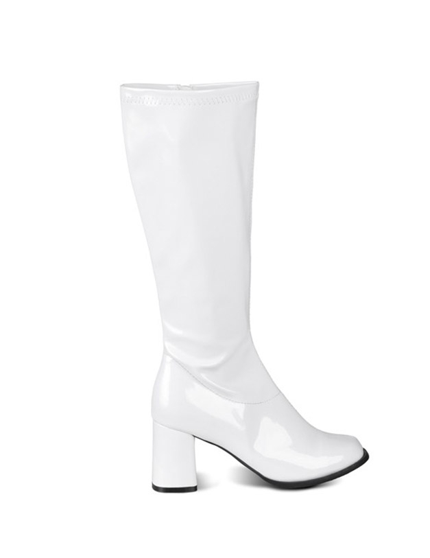 Bottes blanches vernies femme