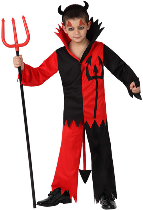 D guisement diable gar on halloween deguise toi achat de d guisements enfants - Maquillage de diable facile a faire ...