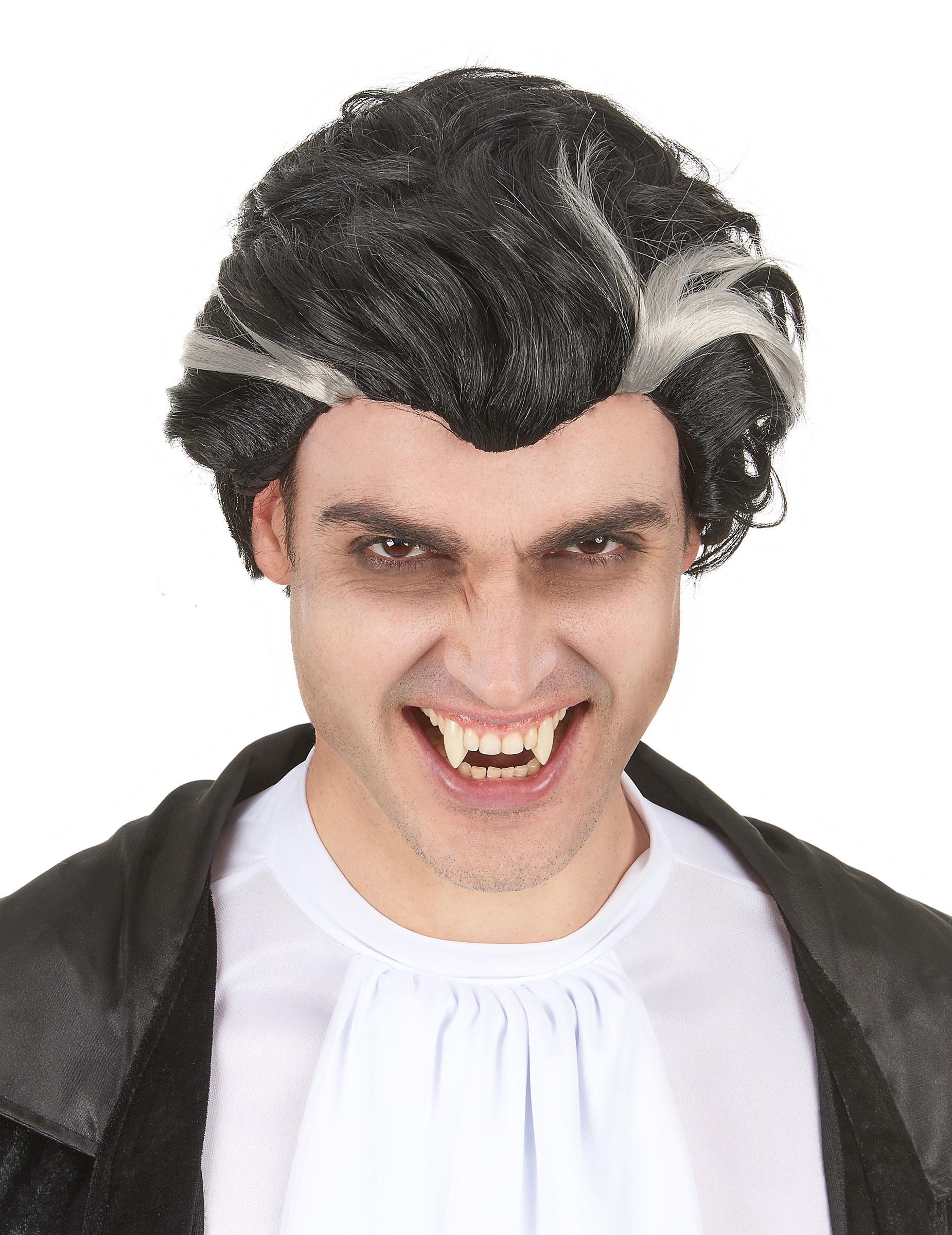 Perruque vampire noire et blanche homme :