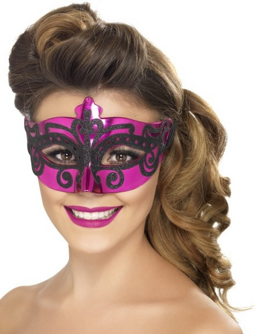 Maquillage carnaval femme rose - Maquillage loup facile ...