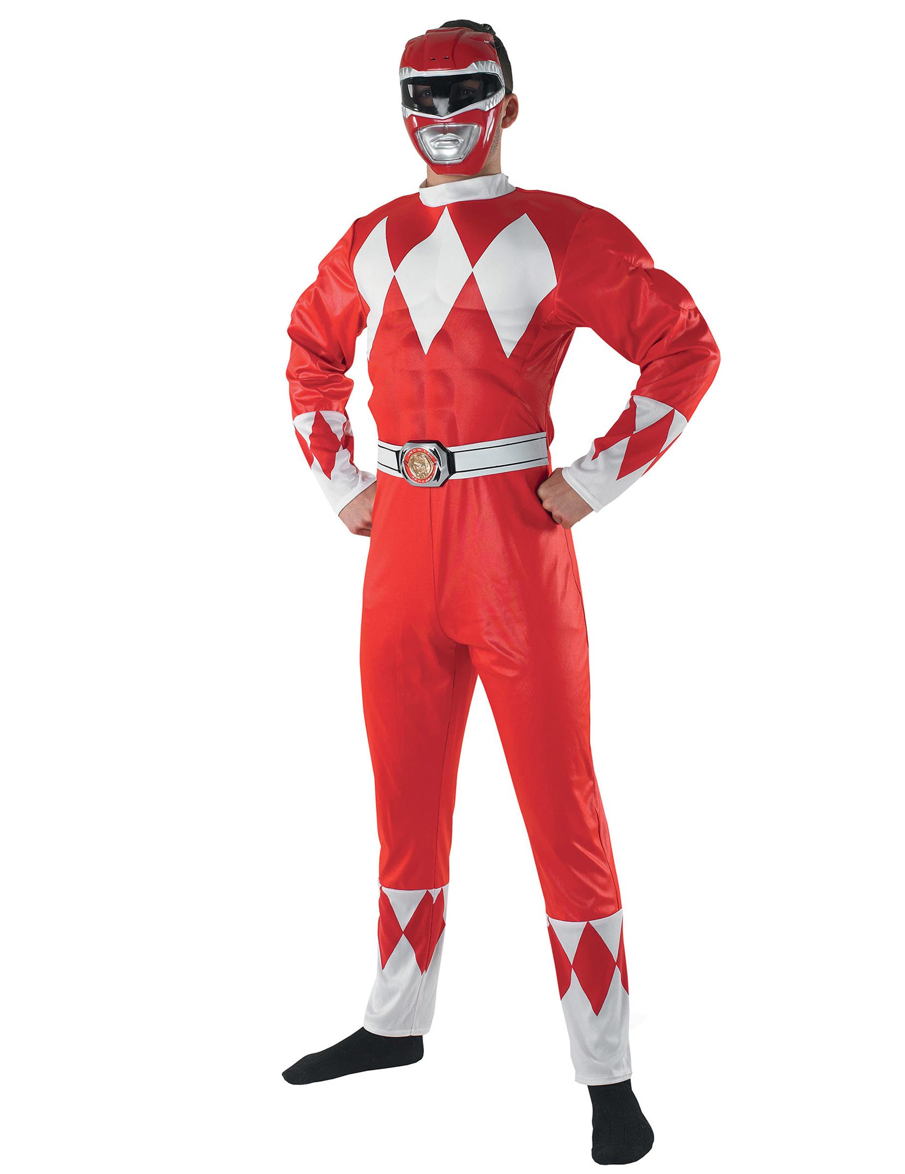 D guisement power rangers rouge adulte deguise toi - Masque de power rangers ...