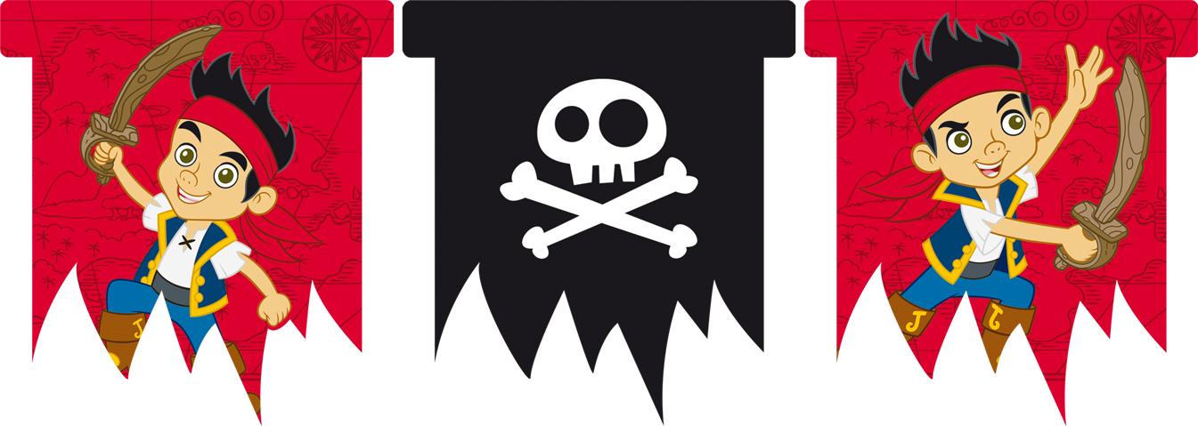Guirlande fanions jake et les pirates deguise toi - Jack et le pirate ...