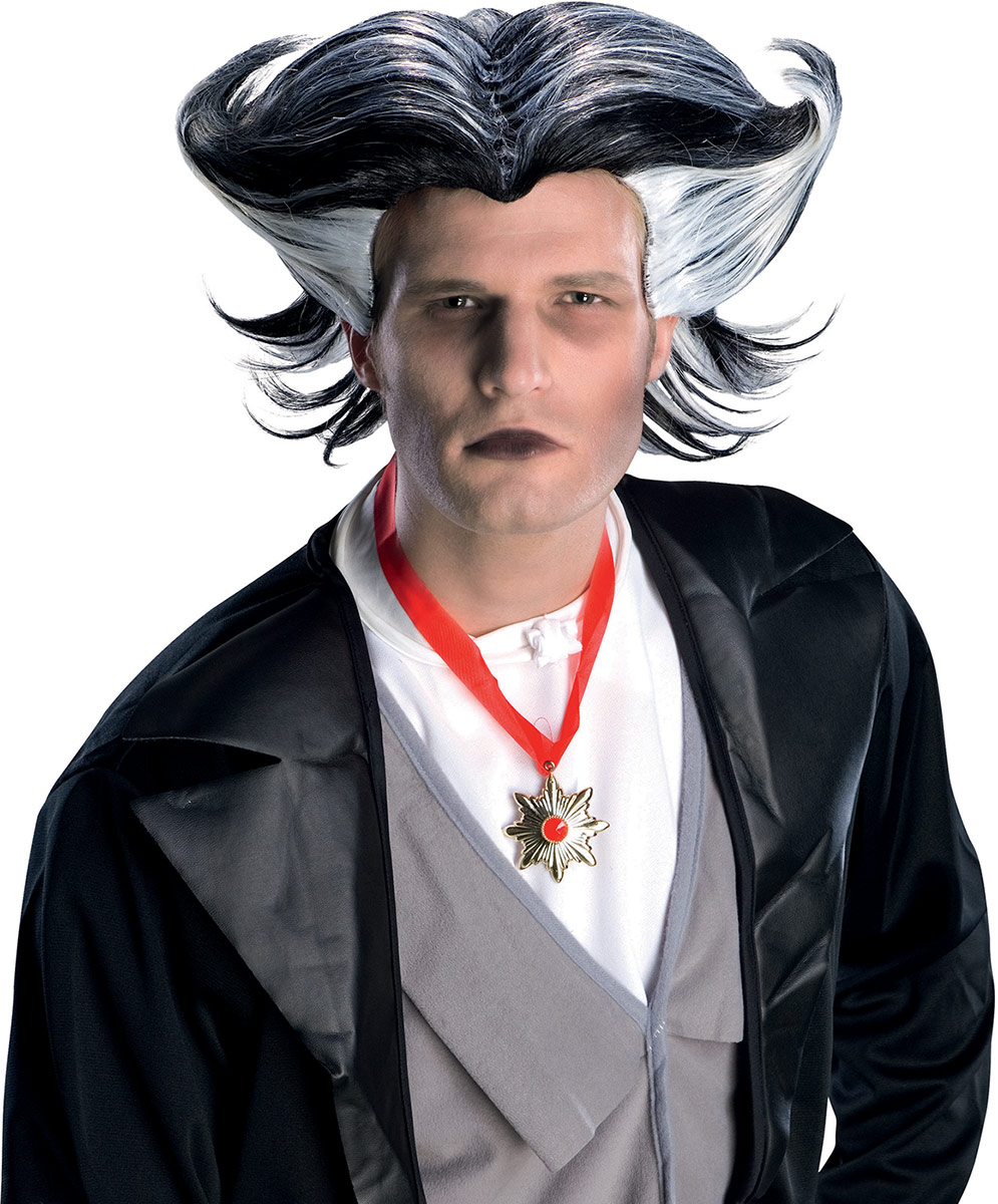 perruque vampire bicolore homme halloween deguise toi achat de perruques. Black Bedroom Furniture Sets. Home Design Ideas
