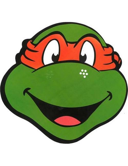 Masque en carton michelangelo tortues ninja deguise toi achat de masques - Tortue ninja orange ...