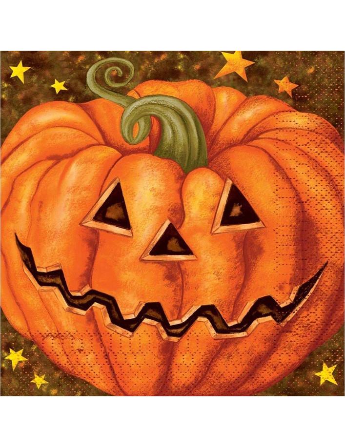 20 serviettes citrouille halloween deguise toi achat de decoration animation - Citrouille halloween en papier ...