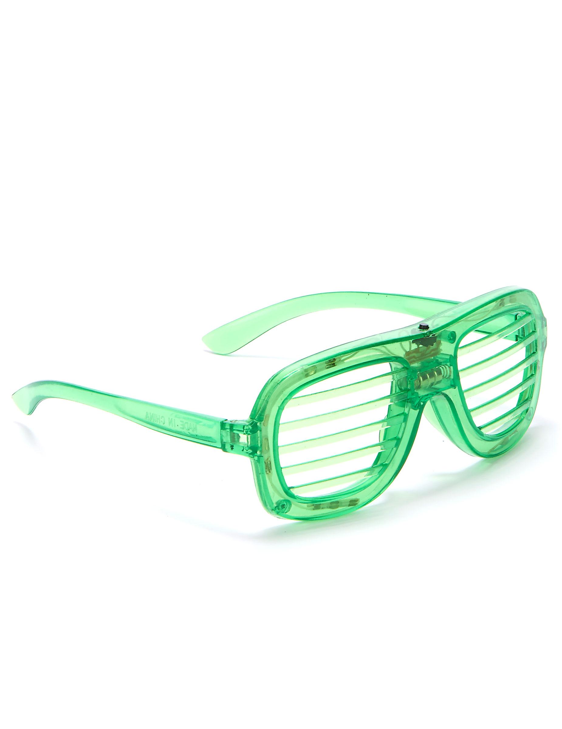 Lunettes verte LED   Deguise-toi, achat de Accessoires 206489cda109