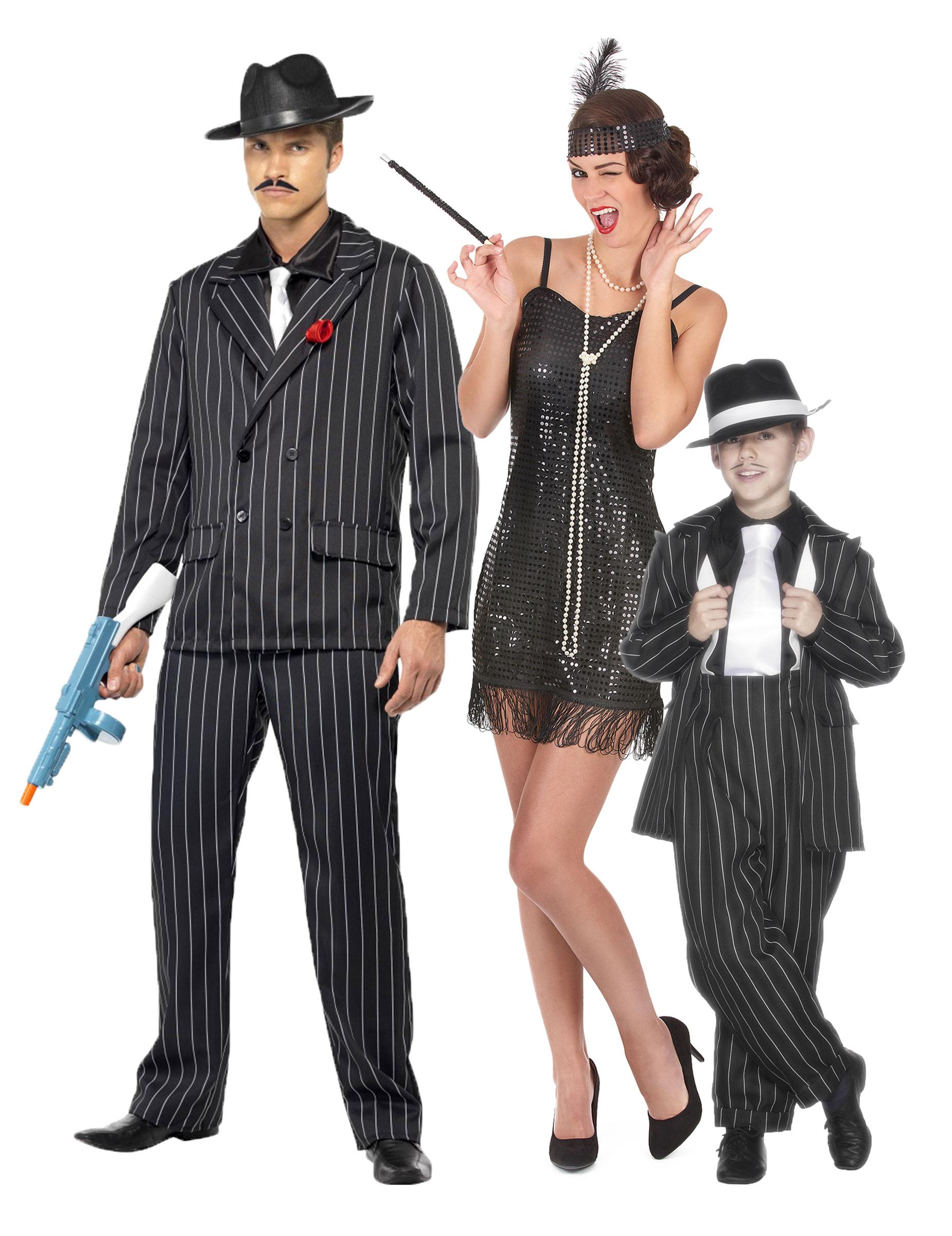 d guisement de famille charleston gangster deguise toi achat de d guisements couples. Black Bedroom Furniture Sets. Home Design Ideas