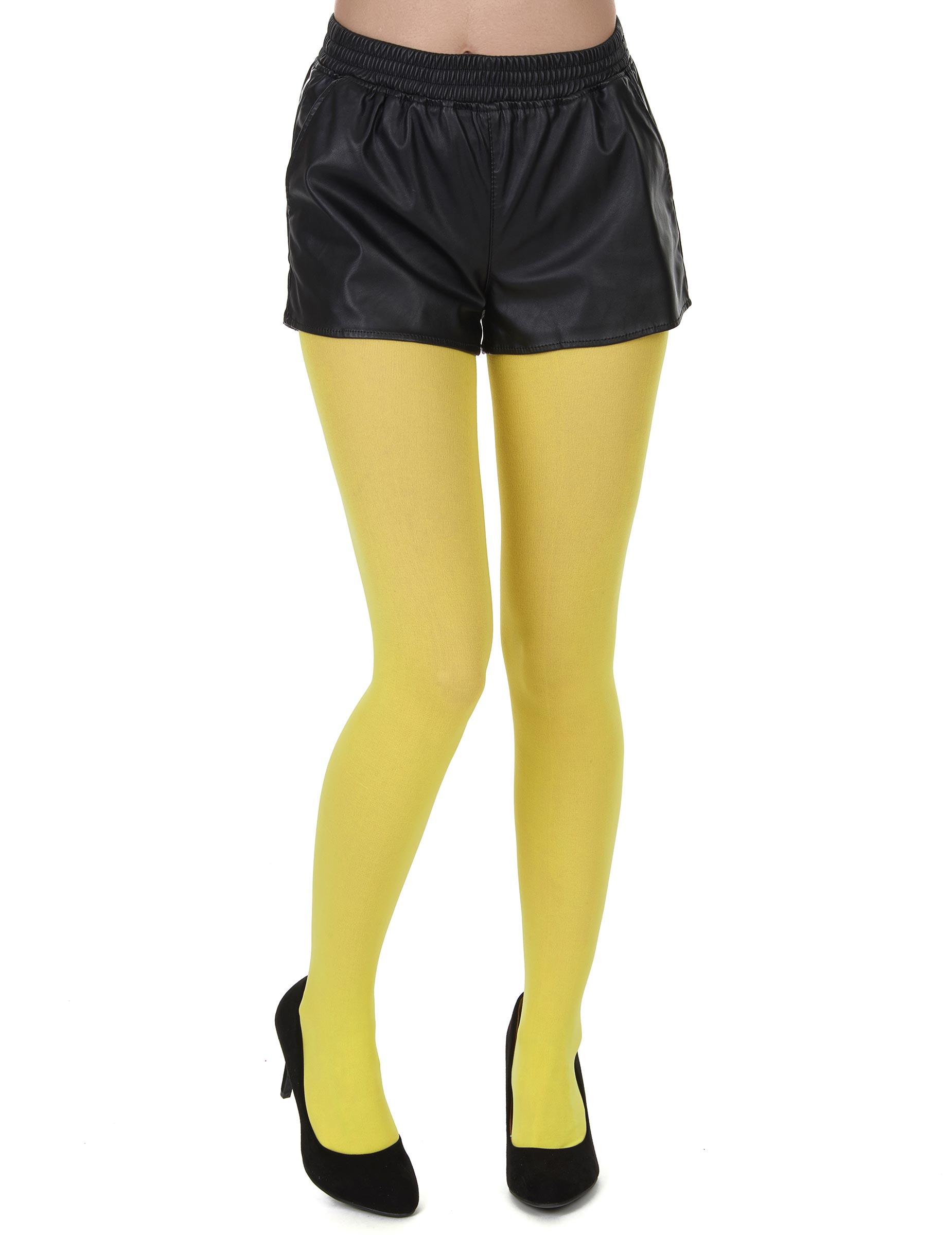 Collants opaques jaunes adulte 1319586a1b4