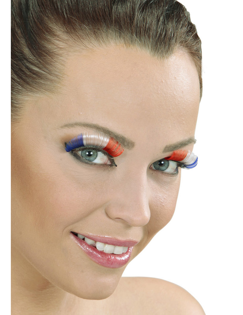 Faux cils courts supporter France adulte