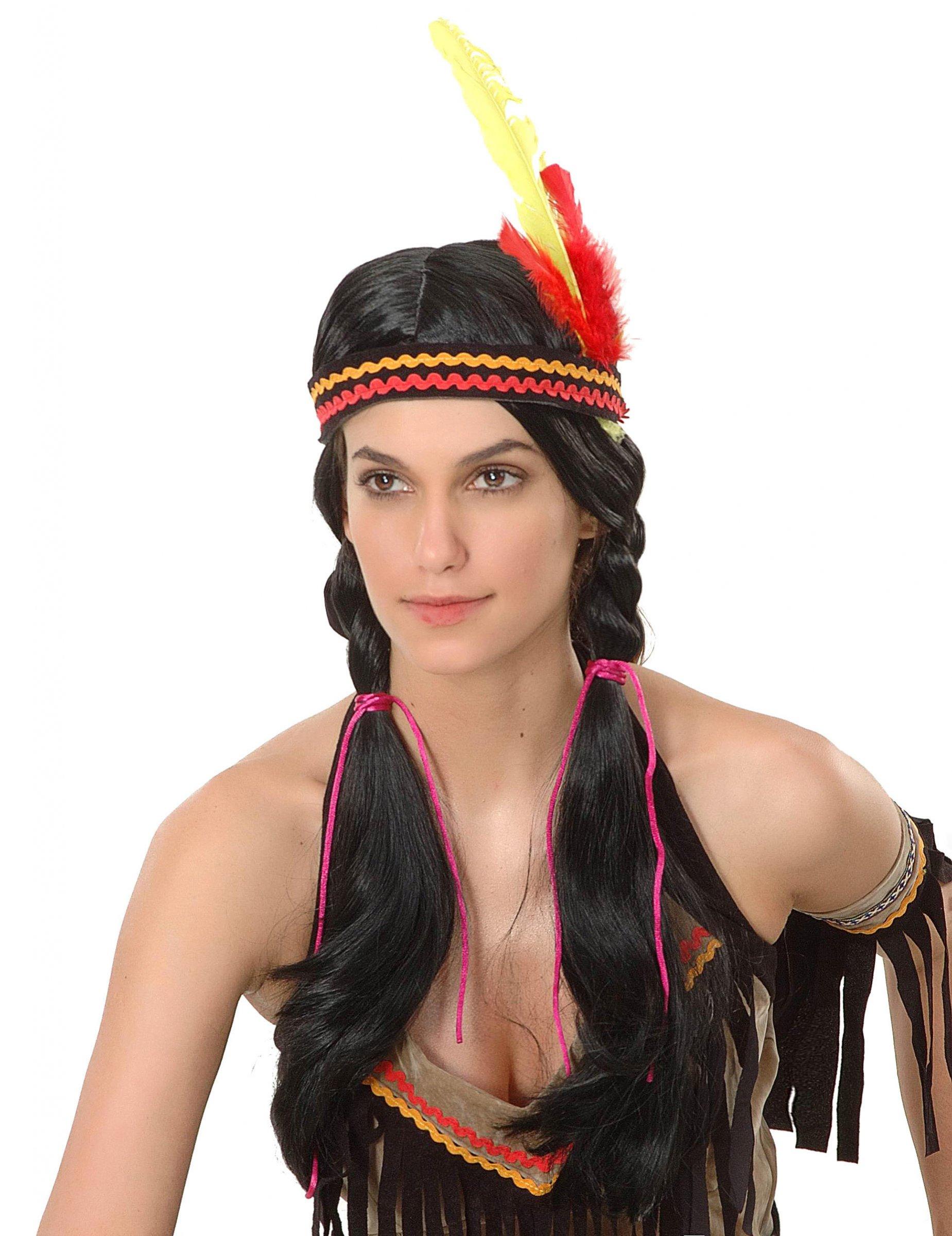 Perruque longue indienne femme : Deguise-