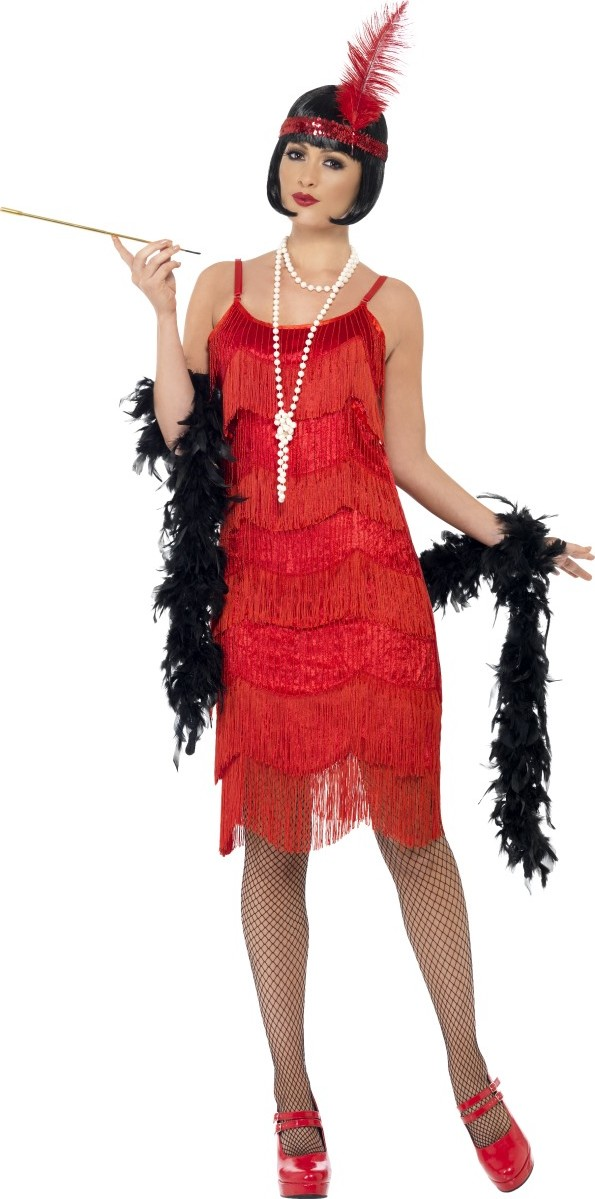 d guisement ann es 20 charleston rouge femme deguise toi. Black Bedroom Furniture Sets. Home Design Ideas