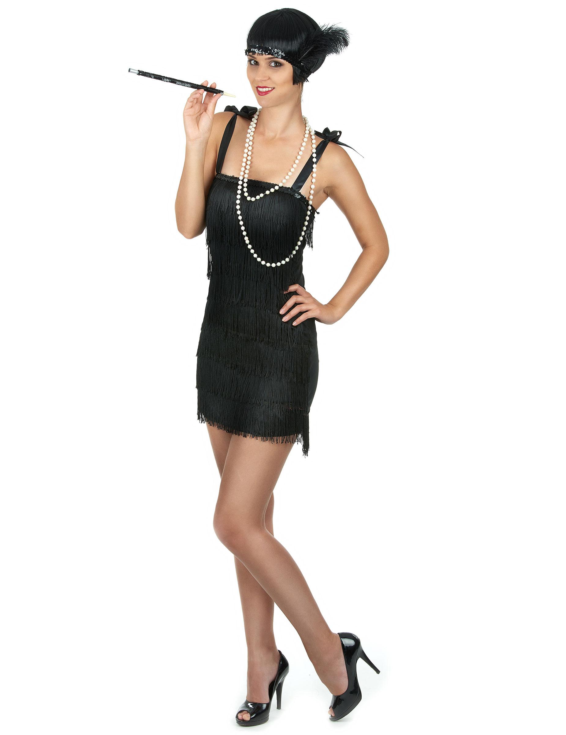 Déguisement charleston noir à franges femme   Deguise-toi e117e4e995c