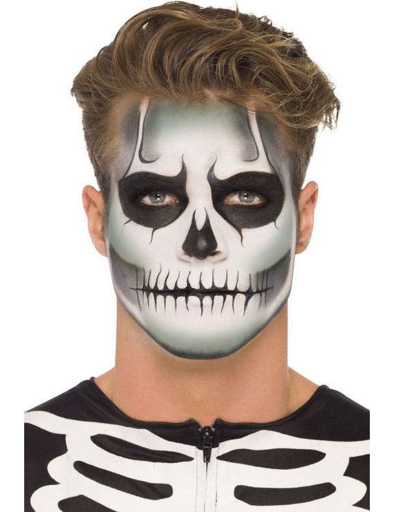 Kit maquillage squelette phosphorescent adulte halloween - Maquillage carnaval homme ...