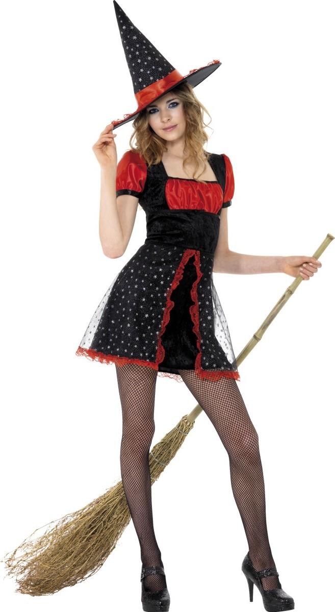 halloween hexen verkleidung schwarz rot f r jugendliche kost me f r erwachsene und g nstige. Black Bedroom Furniture Sets. Home Design Ideas