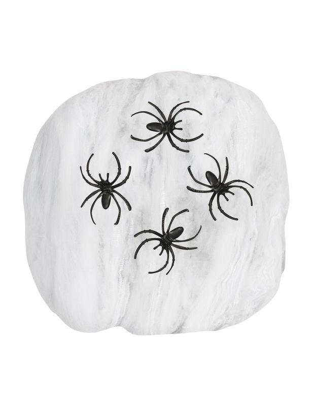 fausse toile d 39 araign e blanche halloween. Black Bedroom Furniture Sets. Home Design Ideas