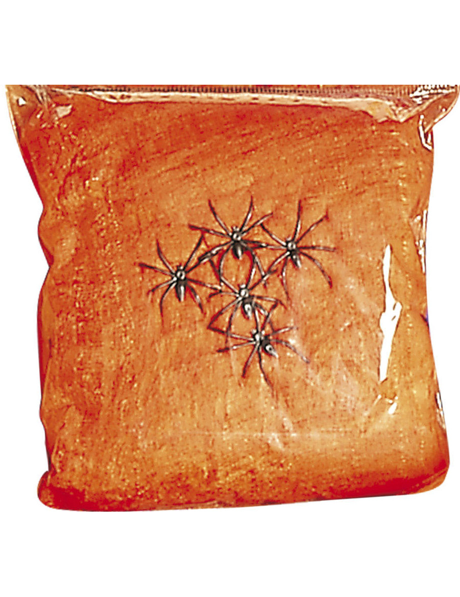 Fausse toile d 39 araign e orange halloween deguise toi for Toile d araignee decoration