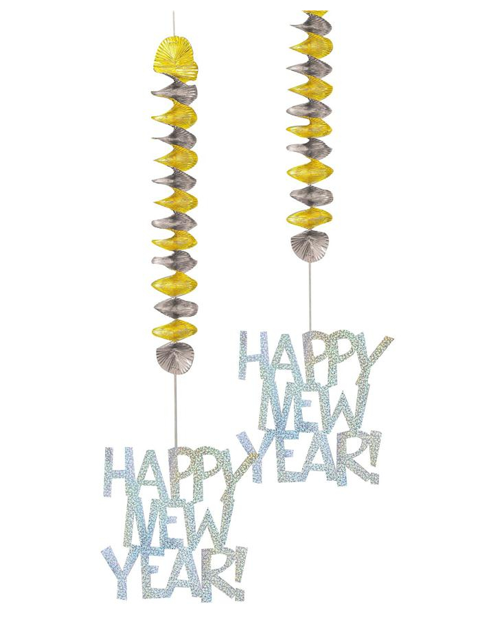 D coration suspendre nouvel an happy new year - Table de nouvel an deco ...