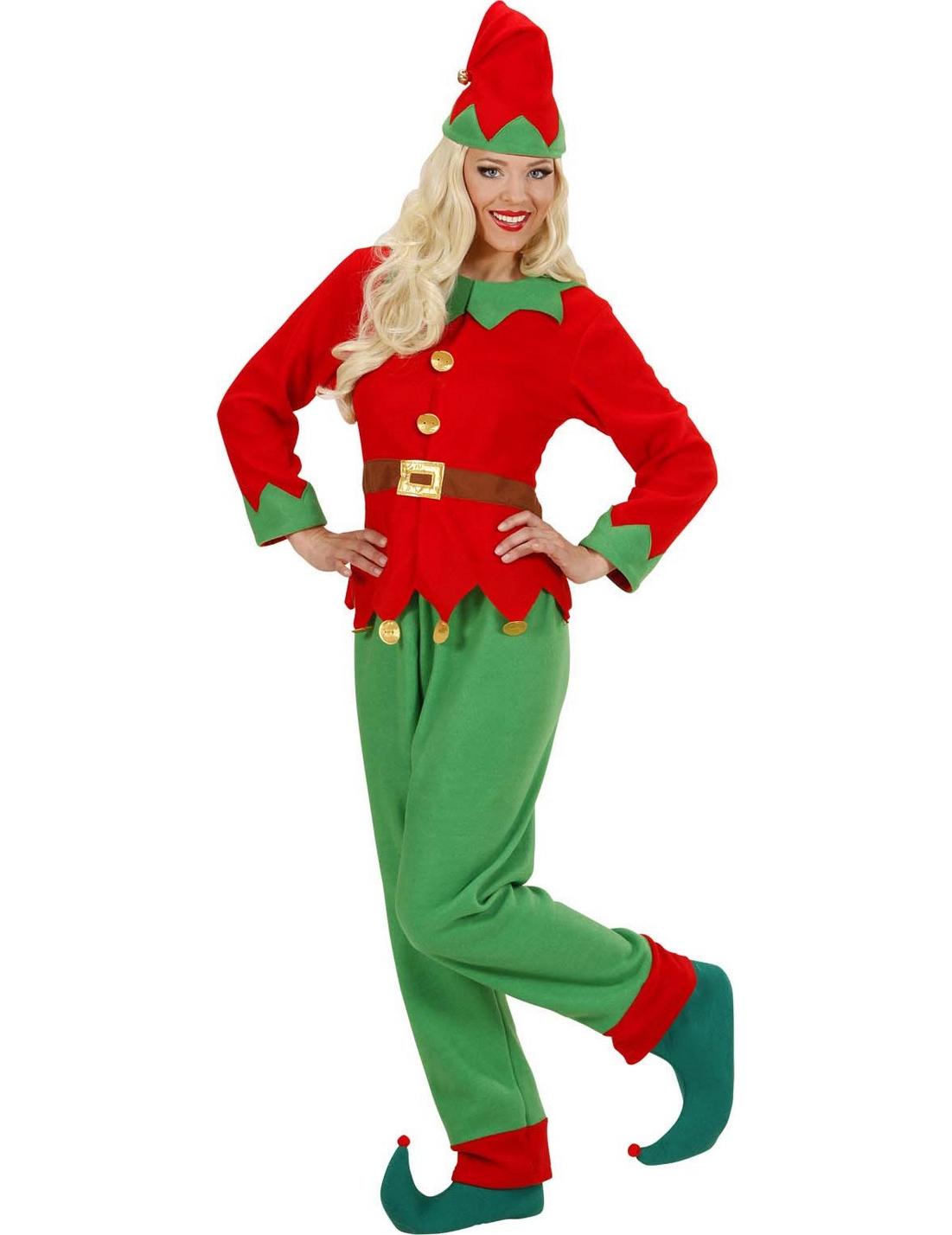 dc30638494d42 Déguisement lutin du Père Noël femme   Deguise-toi