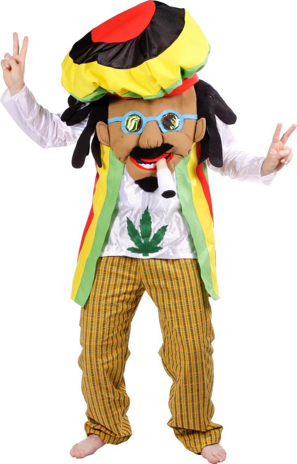Déguisement Homme JAMAICAIN XL Reggae Hippie NEUF Pas cher