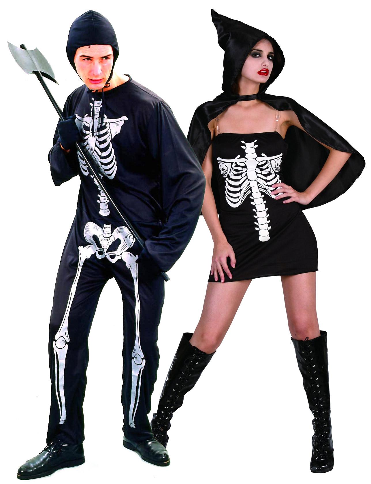 d guisement de couple squelette halloween deguise toi achat de d guisements couples. Black Bedroom Furniture Sets. Home Design Ideas