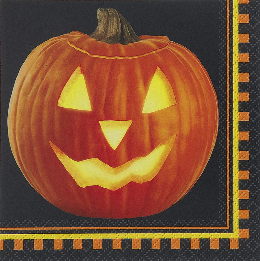 16 serviettes citrouille halloween - Deguisetoi fr halloween ...