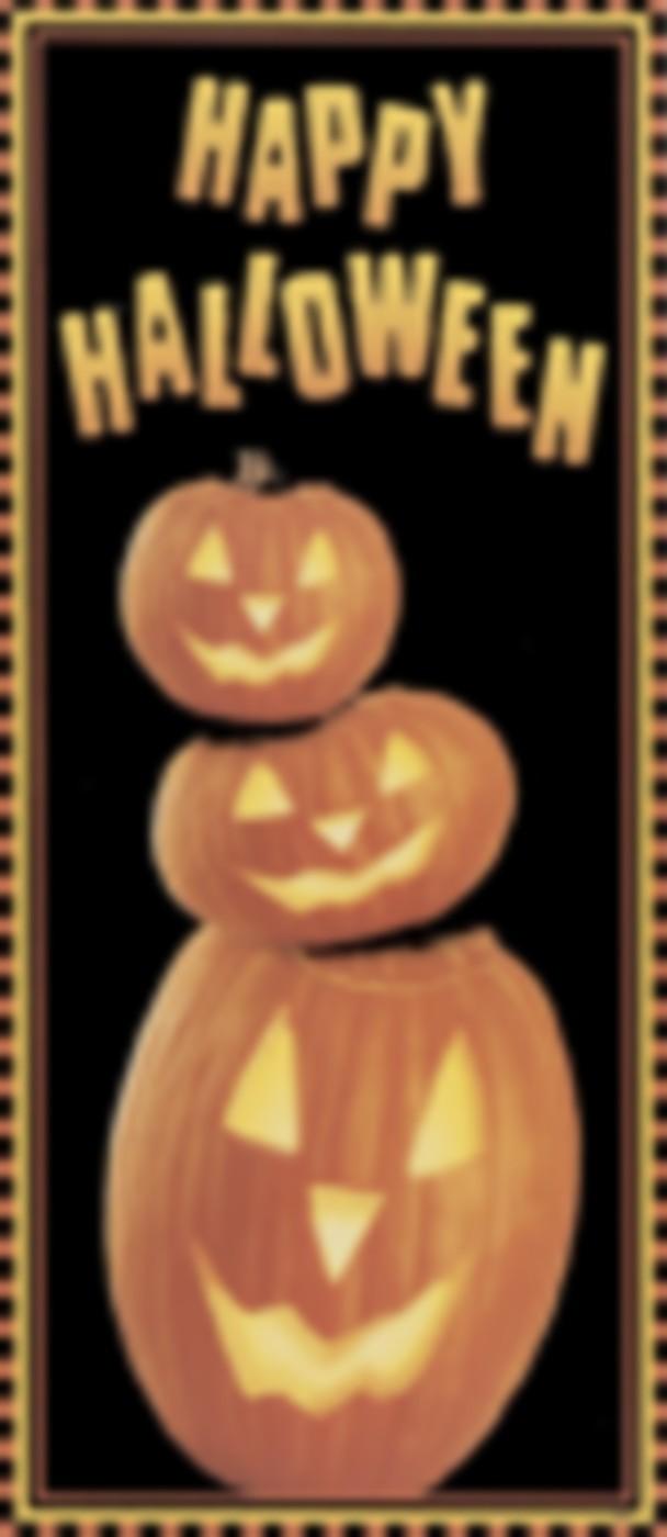 Pumpkin door decoration