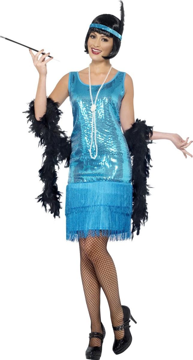Bandeau charleston sequins à plume deguisement femme robe accessoire caberet 20s