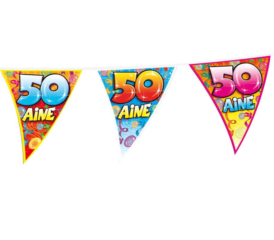 Guirlande fanions anniversaire 50 ans deguise toi achat de decoration animation - Decoration anniversaire adulte 50 ans ...