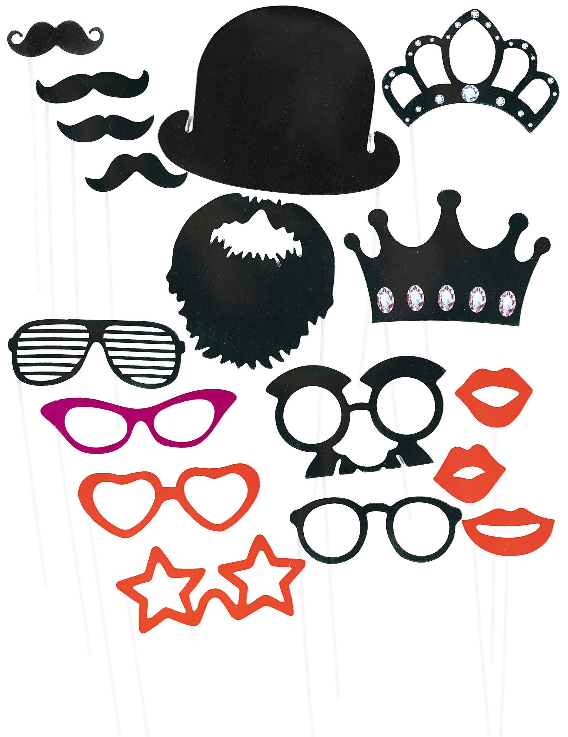 Kit photobooth 17 accessoires   Deguise-toi, achat de Decoration ... 4b1177fb79b6