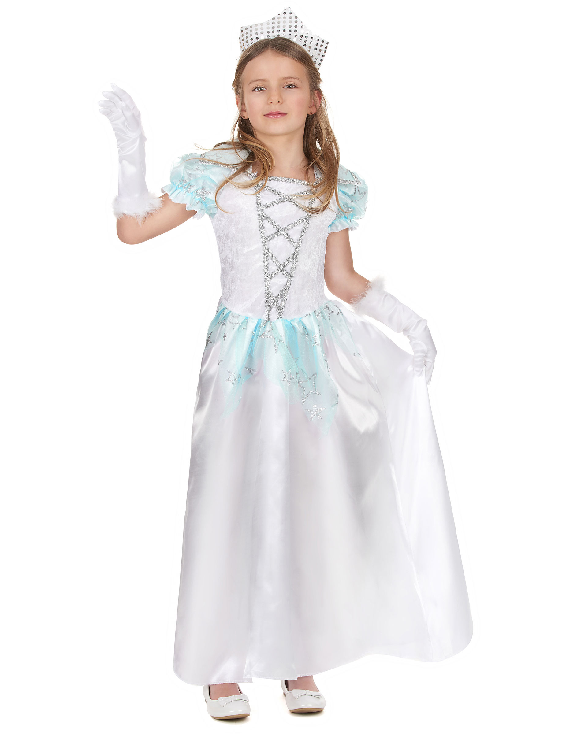 Robe princesse blanche mini