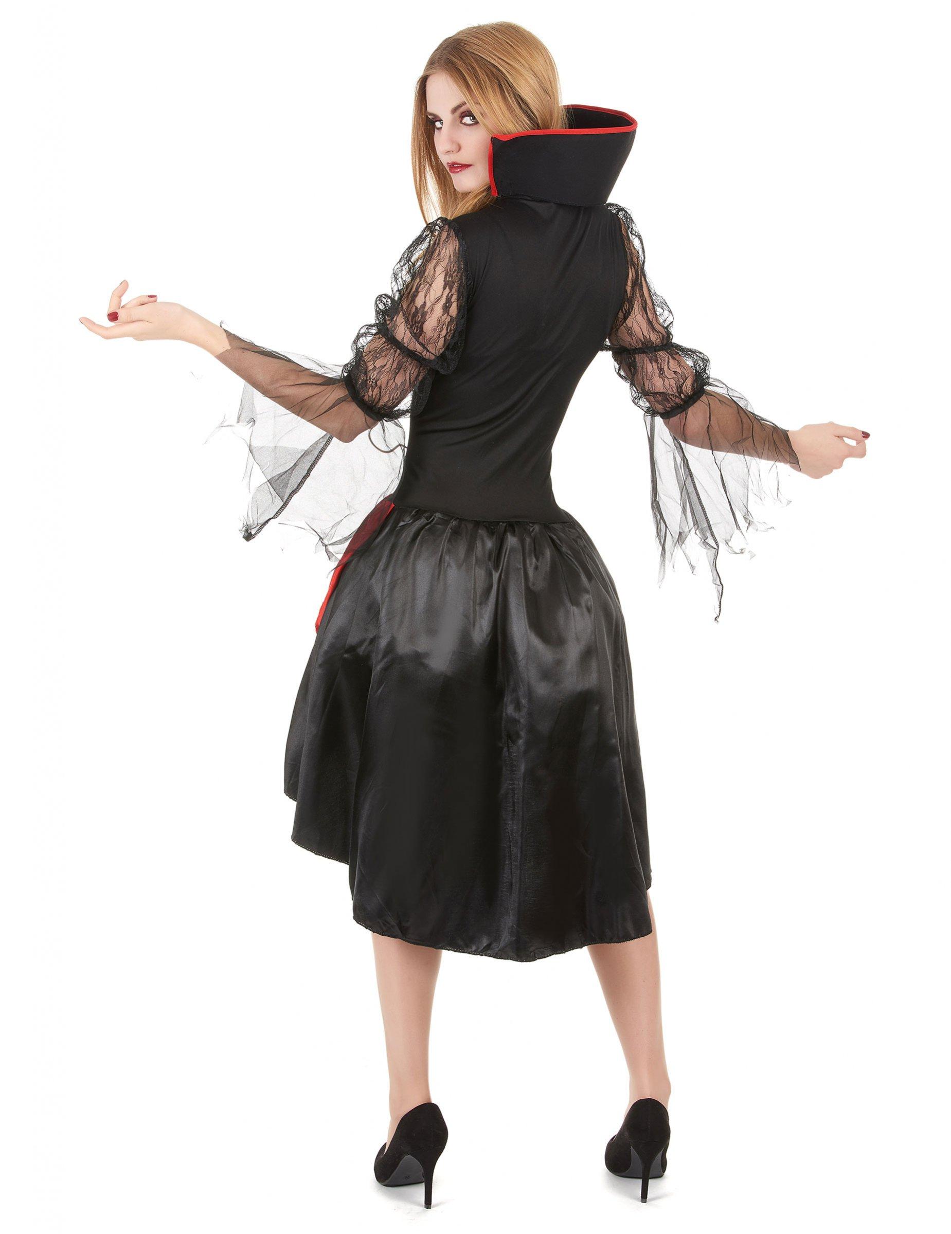 Nouveau glamour vamp-Femmes Rouge Vampire Femmes Déguisement Halloween Costume