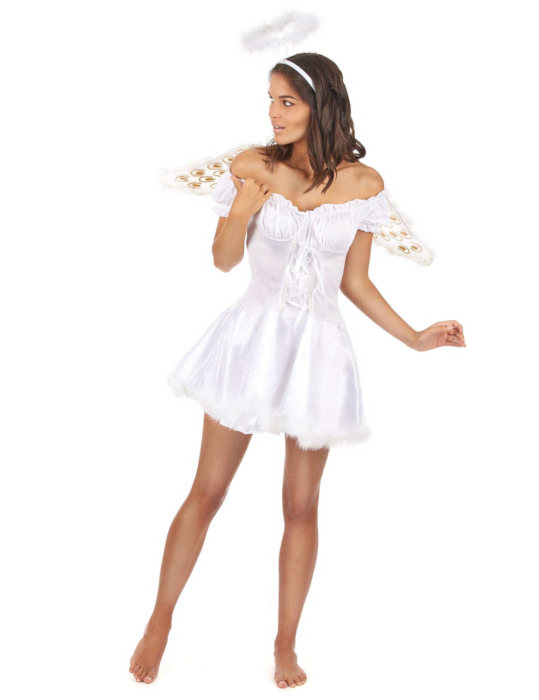 Déguisement ange blanc sexy femme   Deguise-toi, achat de ... 1d6e80e13fd4