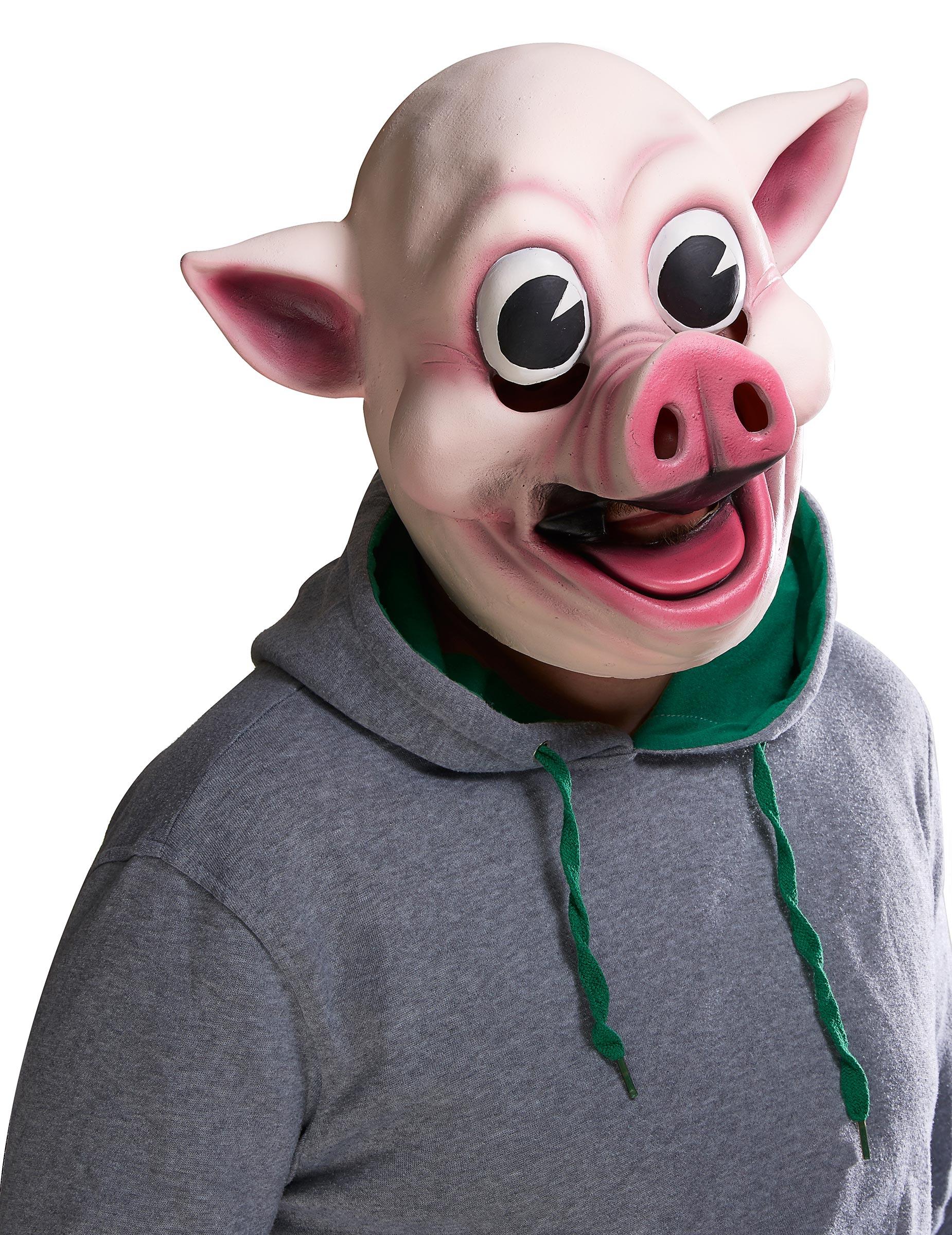 Masque Cochon joyeux Adulte   Deguise-toi, achat de Masques 07fd20aa776e