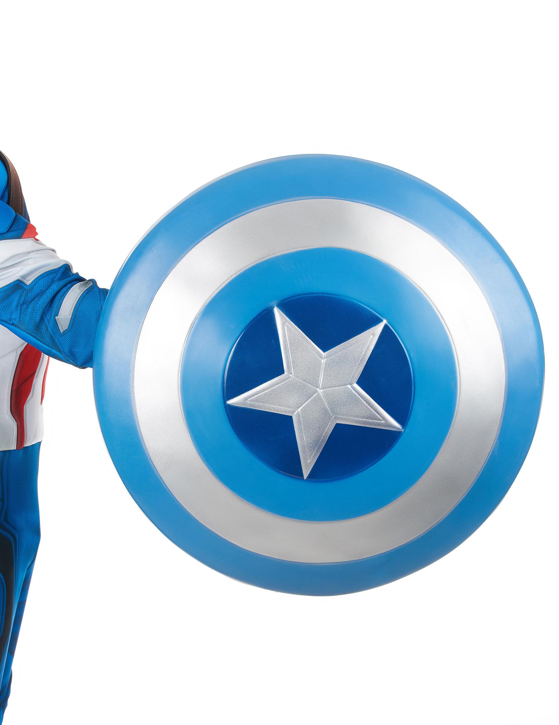 bouclier bleu captain america 61 cm deguise toi achat de accessoires. Black Bedroom Furniture Sets. Home Design Ideas