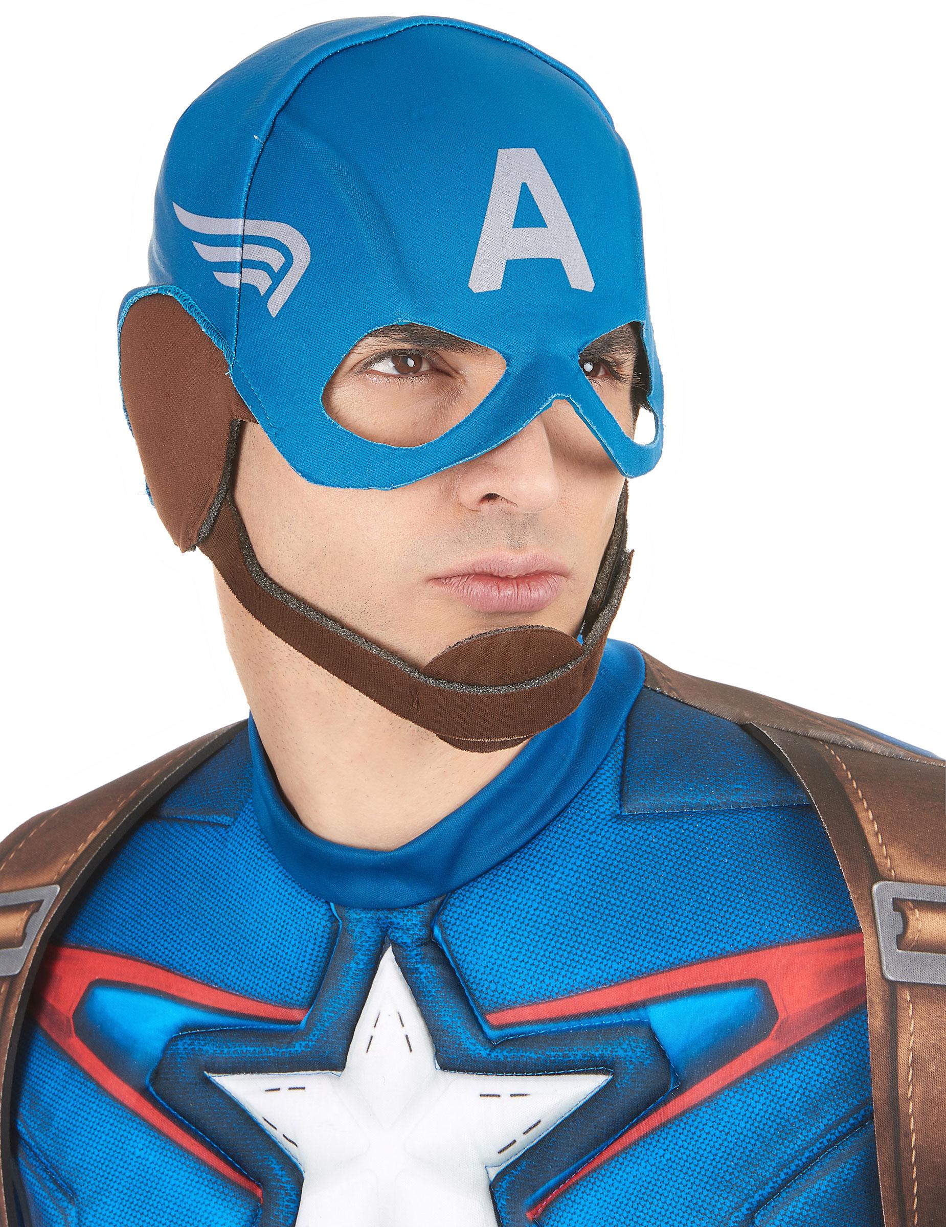 Casque en tissu captain america adulte deguise toi achat de masques - Masque de captain america ...