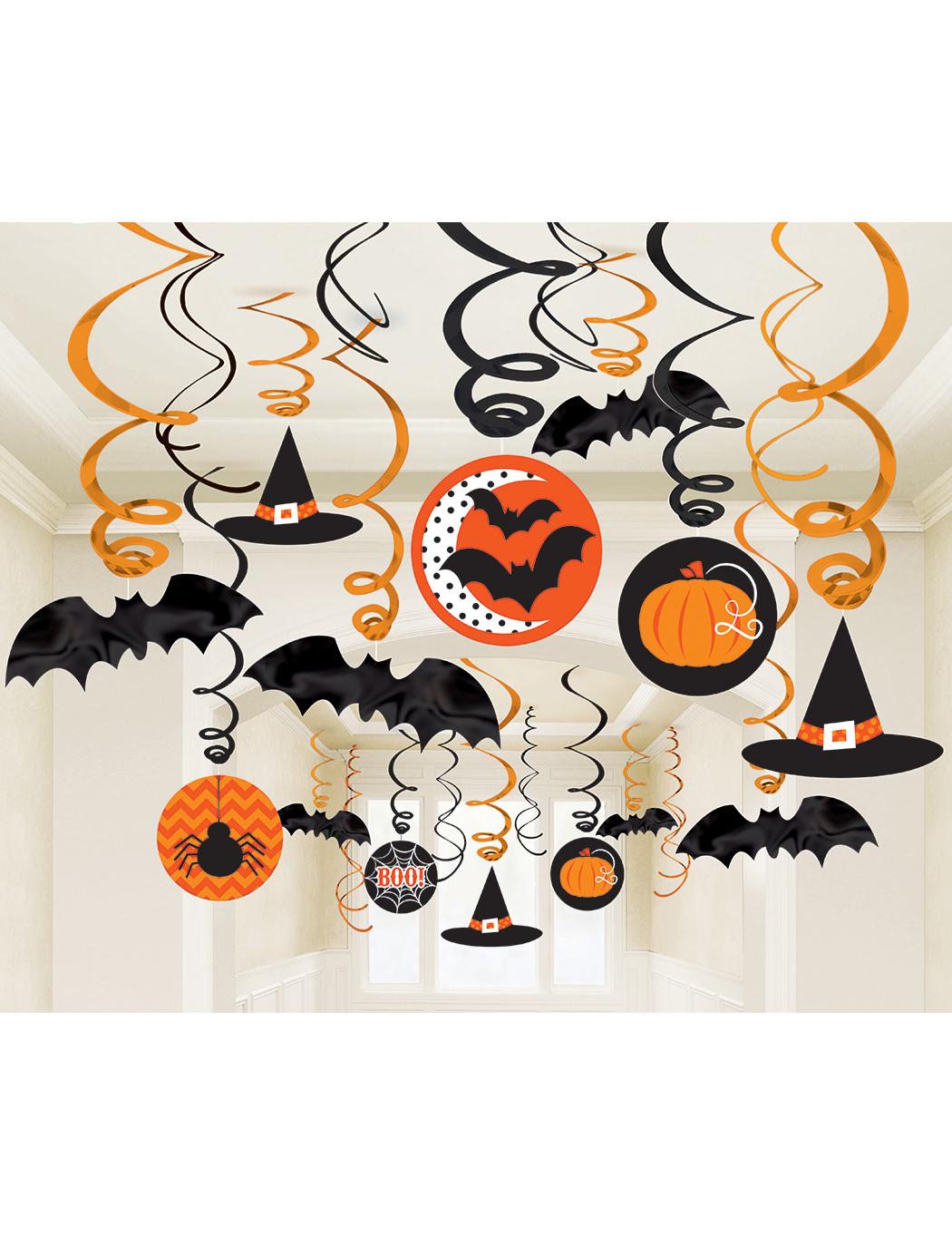 30 Décorations spirales Halloween