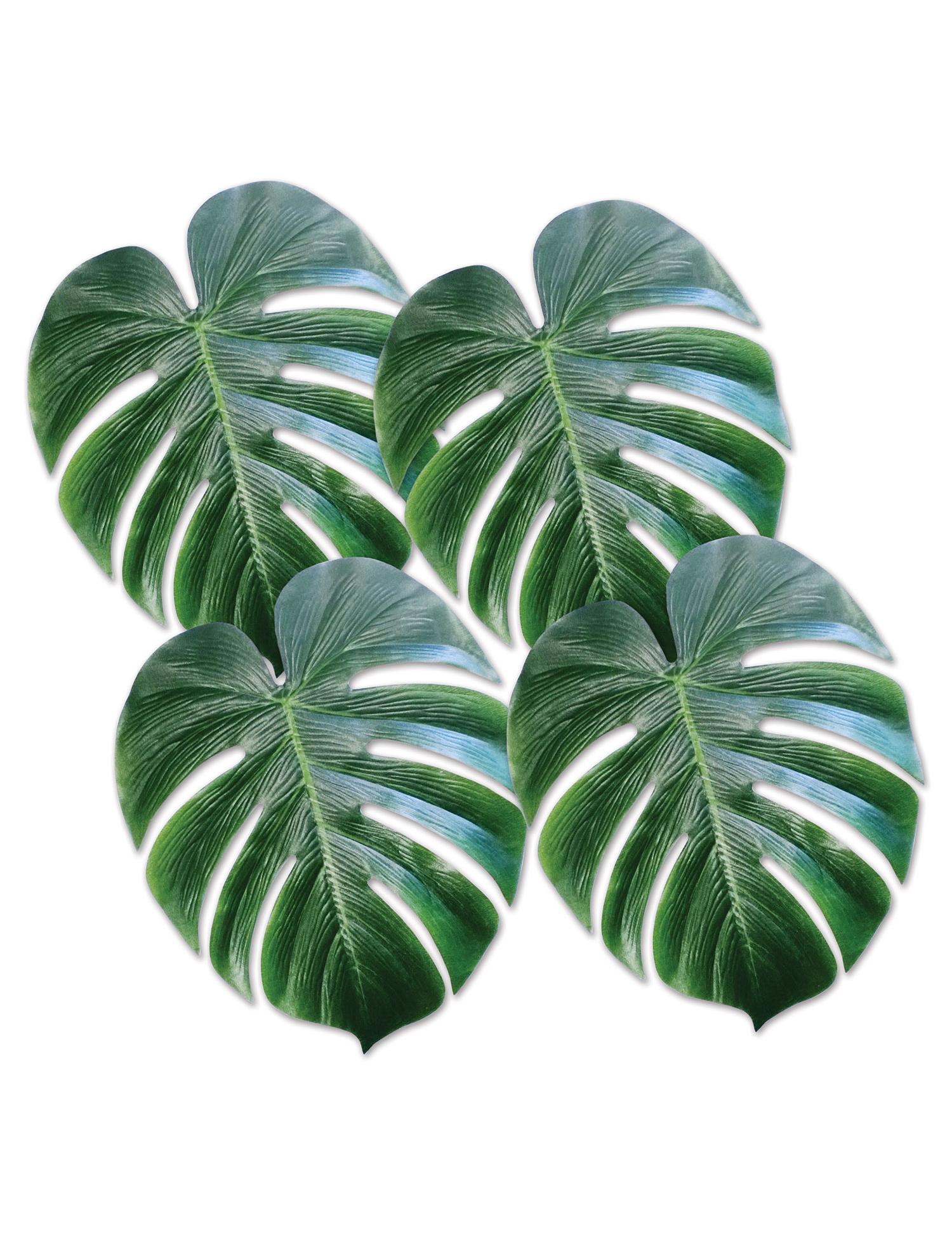 4 feuilles de palmier en plastique vert deguise toi for Achat de decoration