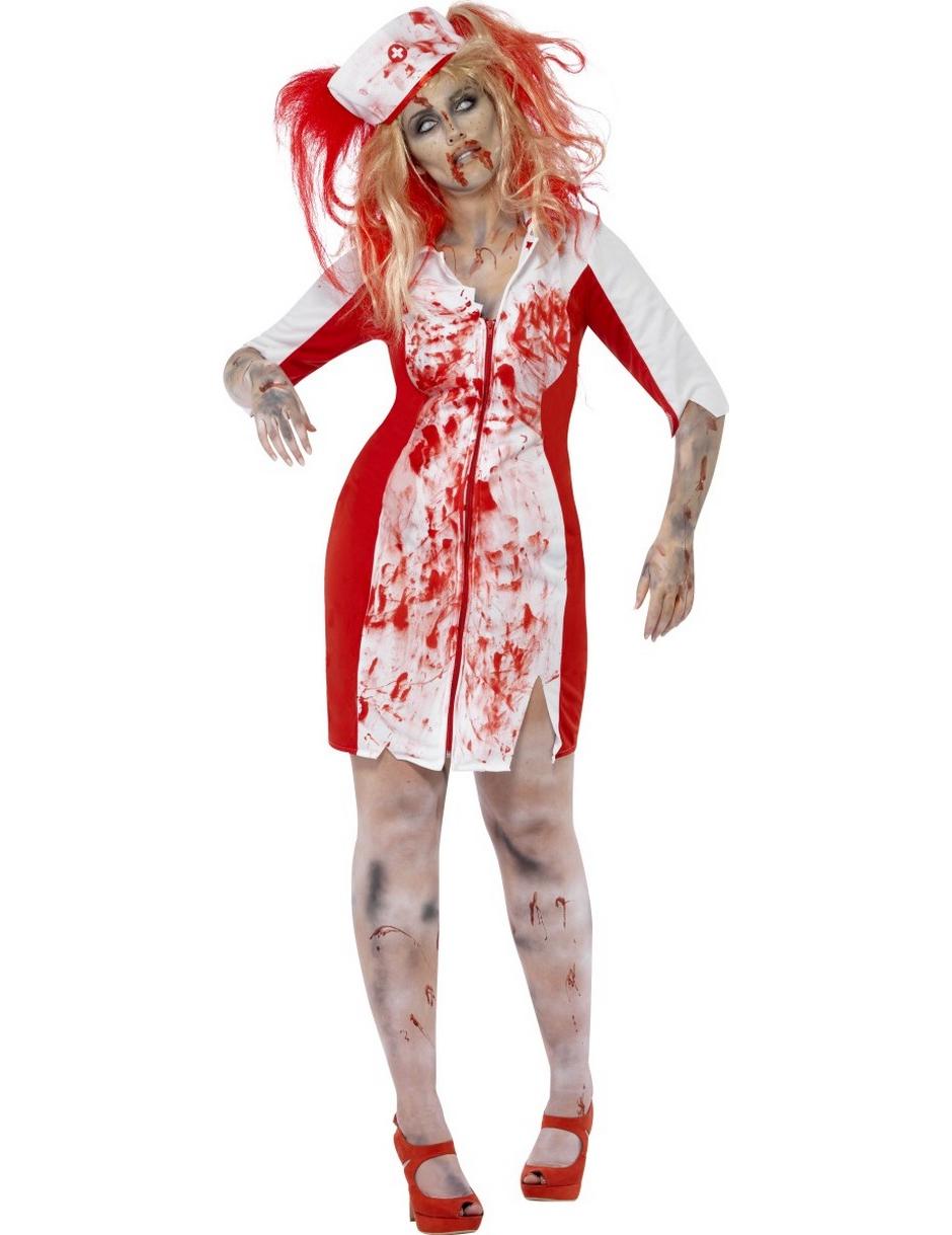 d guisement zombie infirmi re femme halloween deguise. Black Bedroom Furniture Sets. Home Design Ideas