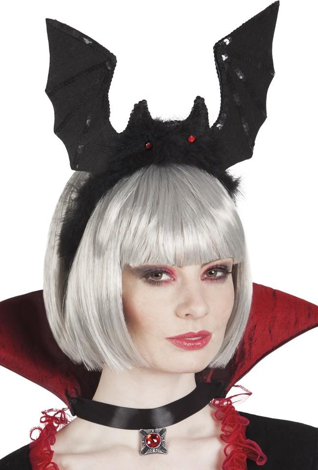serre t te chauve souris noire adulte halloween deguise toi achat de accessoires. Black Bedroom Furniture Sets. Home Design Ideas