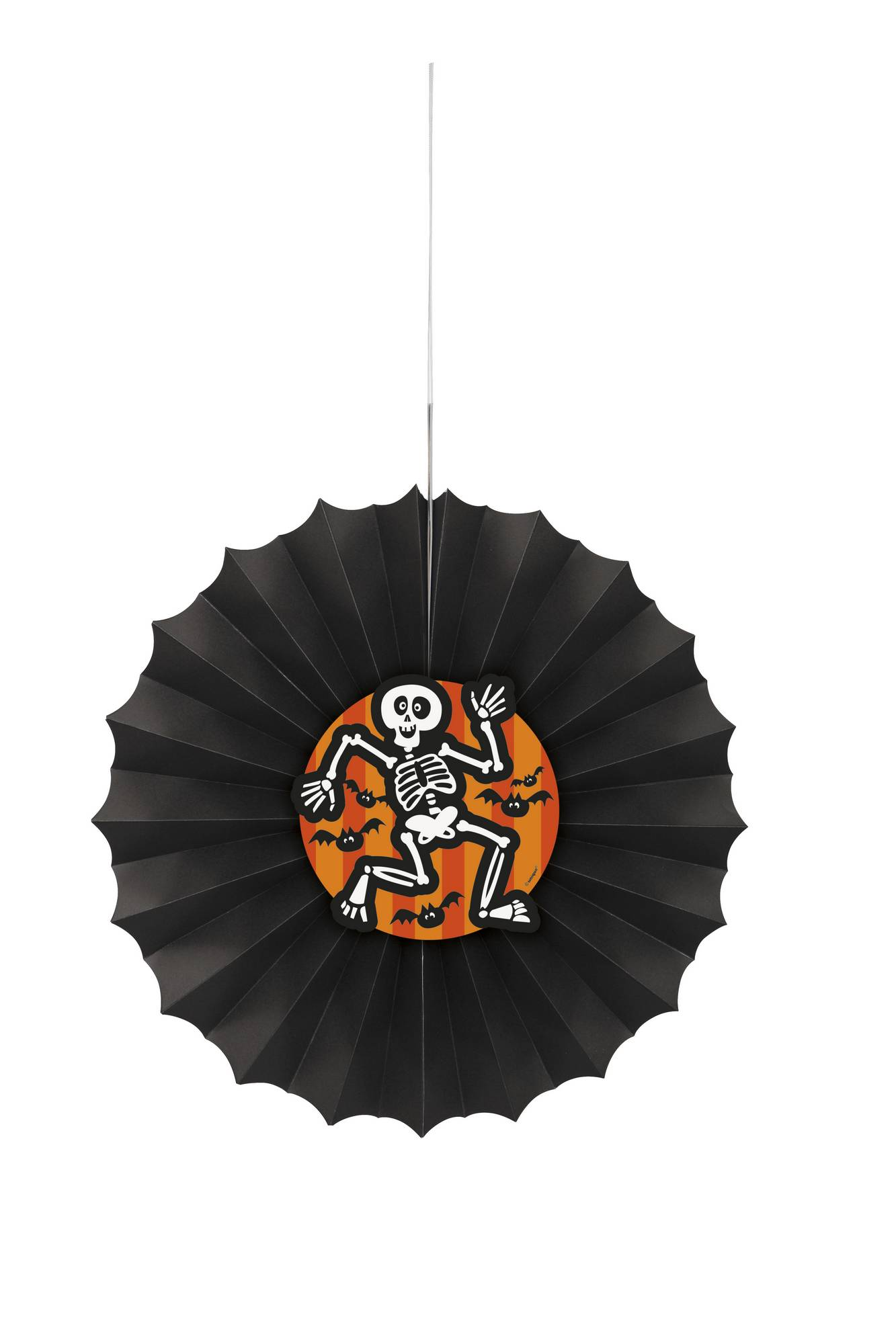 Eventail En Papier A Suspendre Squelette Halloween
