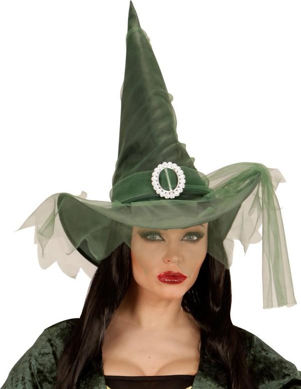 chapeau sorci re vert femme halloween deguise toi achat de chapeaux. Black Bedroom Furniture Sets. Home Design Ideas