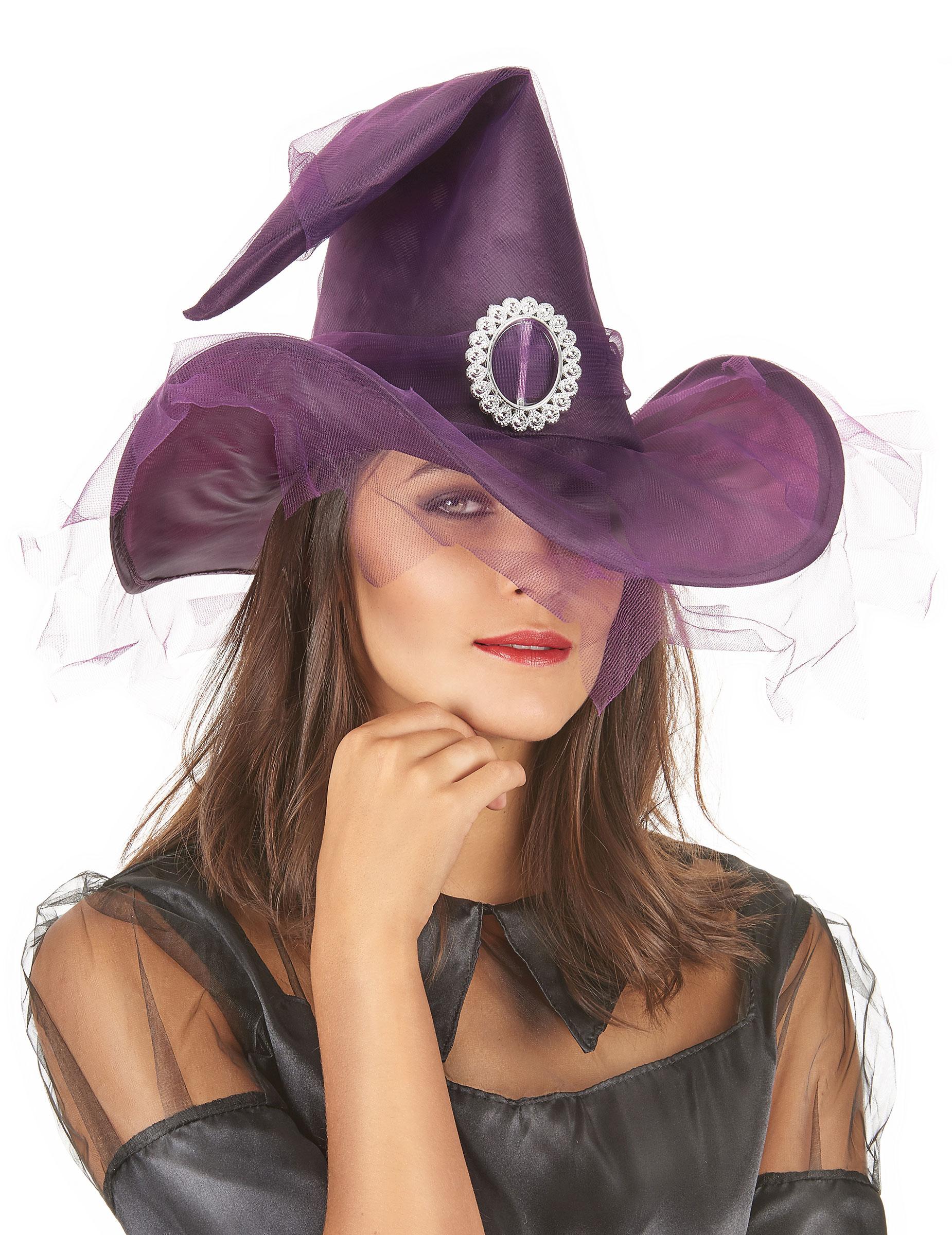 chapeau sorci re violet femme halloween deguise toi achat de chapeaux. Black Bedroom Furniture Sets. Home Design Ideas
