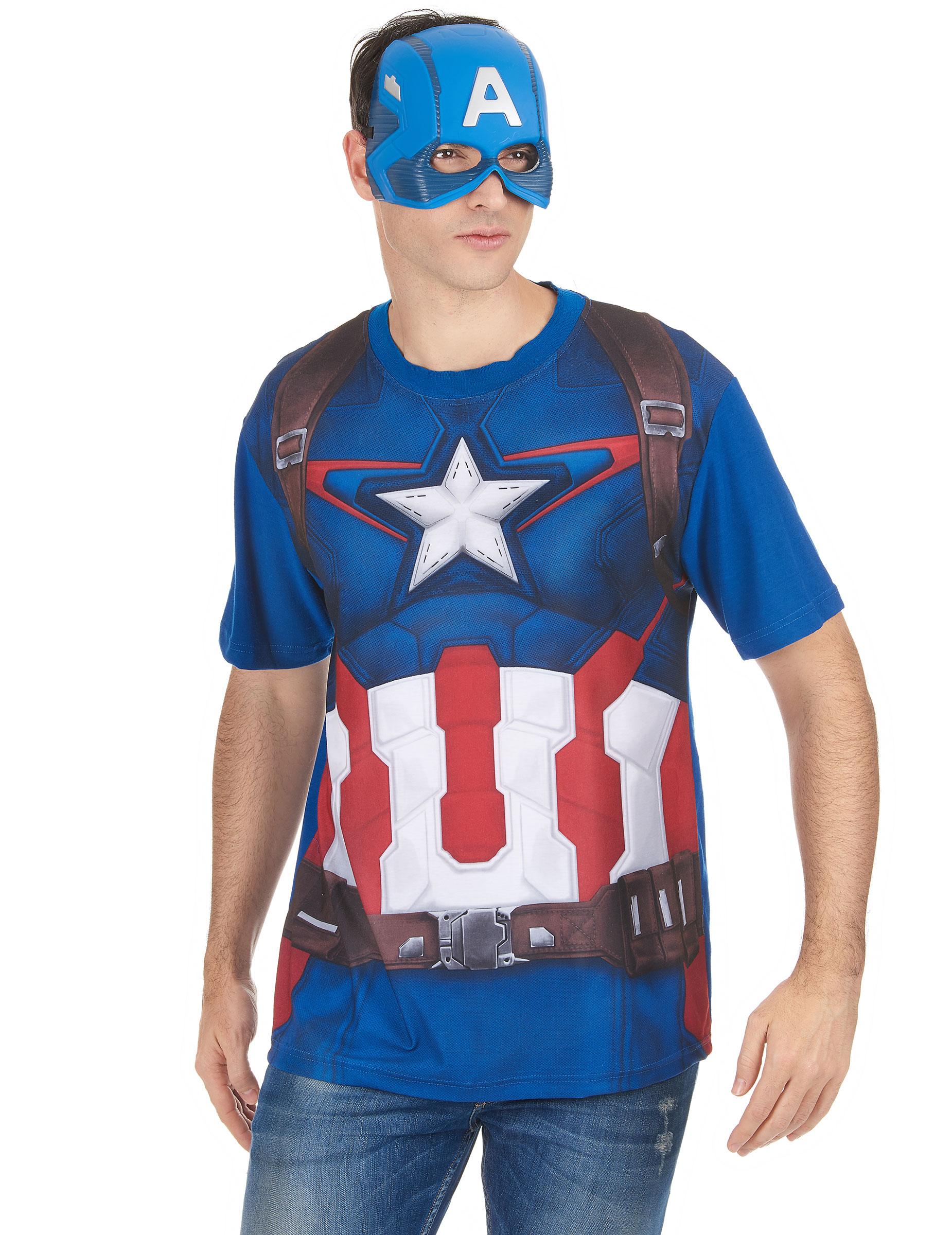 t shirt et masque adulte captain america movie 2 - Masque Captain America